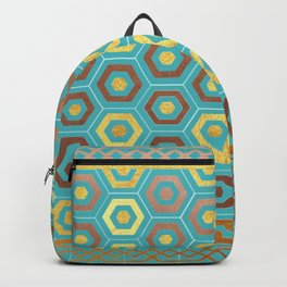 Gold and Copper mosaic 2 Backpack