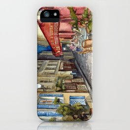 Postcards from Paris - Montmartre by Night: Le Tire-Bouchon Creperie iPhone Case
