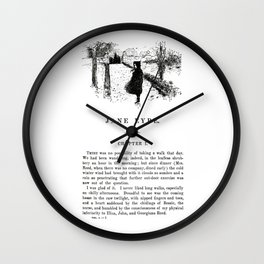 Jane Eyre Charlotte Bronte First Page Wall Clock