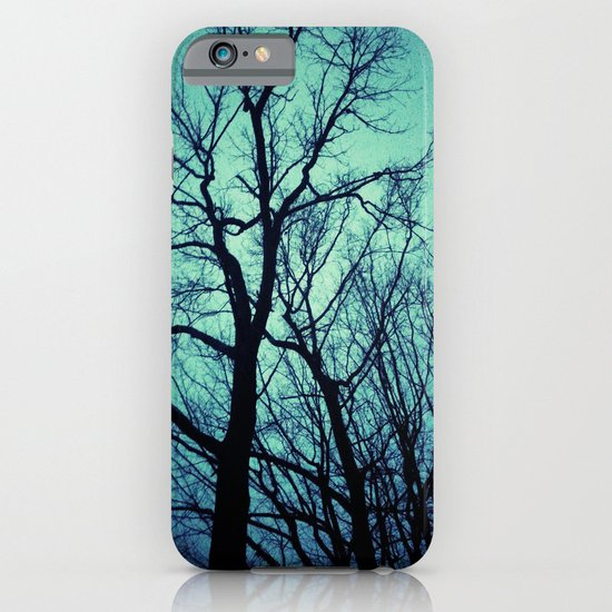 Blue Winter Trees iPhone & iPod Case