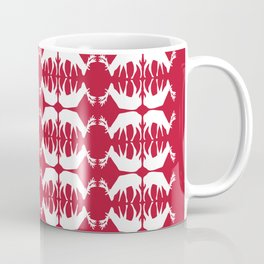 Oh, deer! in cranberry red Coffee Mug