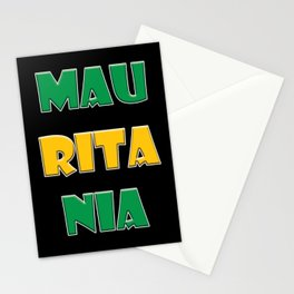 mauritania Country Flag Stationery Cards
