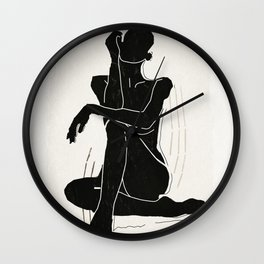 Nude woman 3 Wall Clock