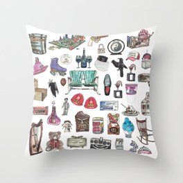 Indiana Objects Throw Pillow