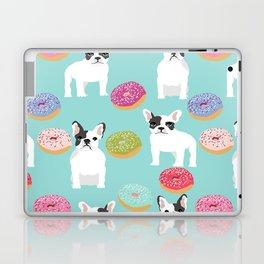 French Bulldog cute mint pastel cute donuts sweet treat doughnuts junk food dessert foods and dogs Laptop & iPad Skin