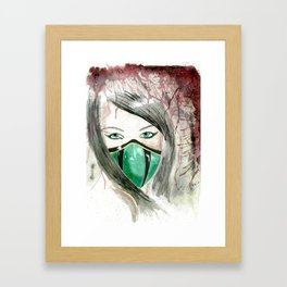 Jade Mortal Kombat Watercolor Framed Art Print