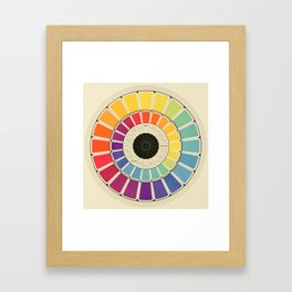 Color Wheel Spinner Framed Art Print
