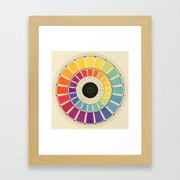Color Wheel Spinner Framed Art Print