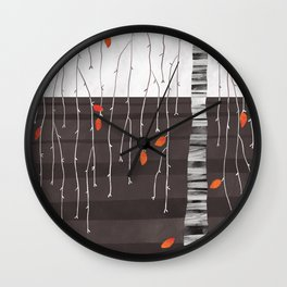 The last of the leaves. Wall Clock