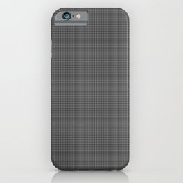White and Gray Basket Weave Lines Pattern on Black iPhone Case