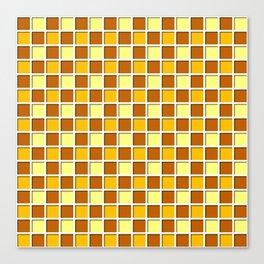 orange Blocks Canvas Print