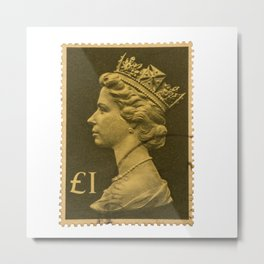Pound Stamp Metal Print