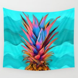 Colorful Pineapple, Ananas fruit Wall Tapestry