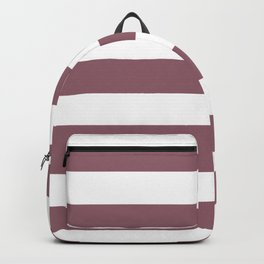 Raspberry glace - solid color - white stripes pattern Backpack