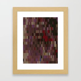 Chocolate and Chillies brown and red Digi fractal Framed Art Print