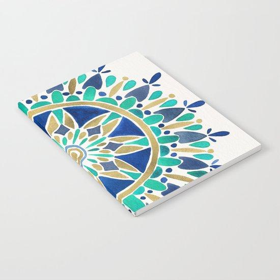 Mandala – Gold & Turquoise Notebook