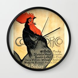 Cocorico Vintage French Poster Wall Clock