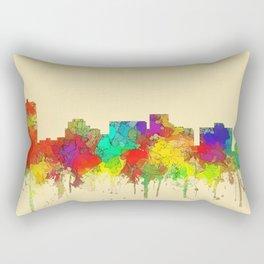 Arlington city skyline watercolor-2 Rectangular Pillow