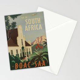 Old Fly to South Africa Stationery Cards