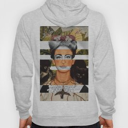"""Frida Kahlo """"Self Portrait with Thorn Necklace"""" & Joan Crawford Hoody"""