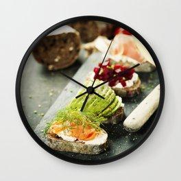 healthy sandwiches Wall Clock