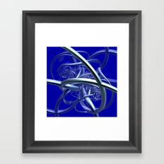 metal crazy pipes Framed Art Print