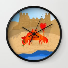 Crabby Suitor Wall Clock