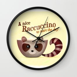 Raccuccino! Wall Clock