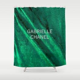 green velvet fabric gabrielle Shower Curtain