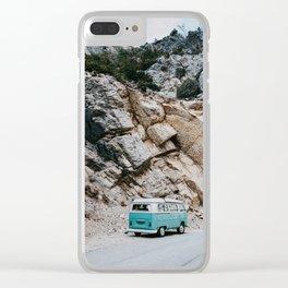 Classic Campervan Adventures Clear iPhone Case