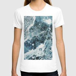 Blue Sea Marble T-shirt