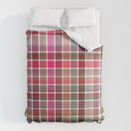 Red Rose Edges Plaid 2 Comforters