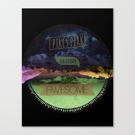Pikes Peak Graphic Canvas Print