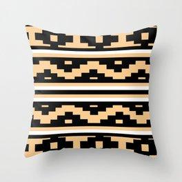 Etnico beige version Throw Pillow