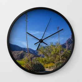 Desert Flowers in the Anza-Borrego Desert State Park, Southern California Wall Clock