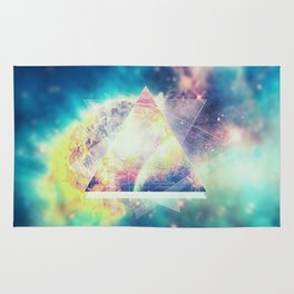 Awsome collosal deep space triangle art sign Rug