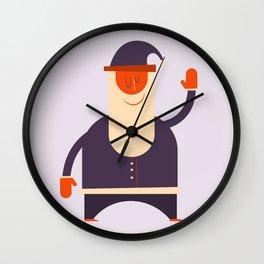 Say Hi To Santa Wall Clock