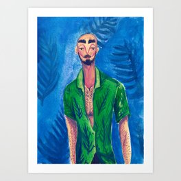 Fabulous Guy in a Green Shirt Art Print