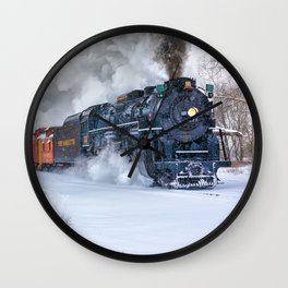 North Pole Express Train (Steam engine Pere Marquette 1225) Wall Clock