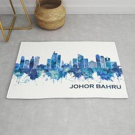 Johor Bahru Malaysia Skyline Blue Rug