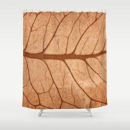 Vintage Sepia Leaf Veins Shower Curtain