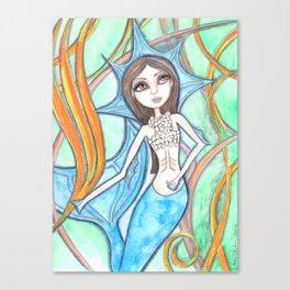 Mermaid Blue Canvas Print