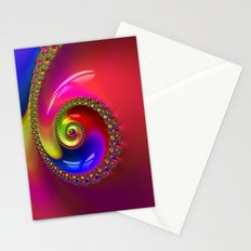 Fractal Shell Colorful Stationery Cards