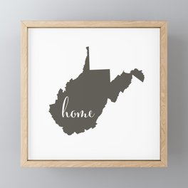 West Virginia is Home Framed Mini Art Print