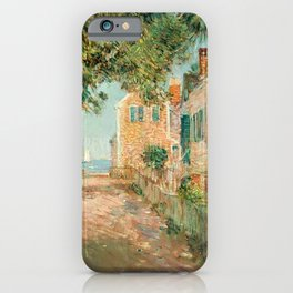 Classical Masterpiece 'Provincetown, Cape Cod' by Frederick Childe Hassam iPhone Case