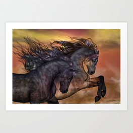 HORSES - On sugar mountain Art Print