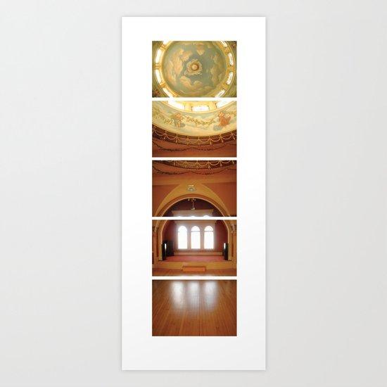 Daunting Dance Hall/ Bass Mansion Art Print
