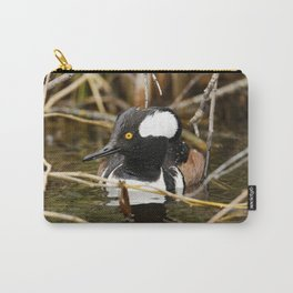 Hooded Merganser | Wildlife Photography | Birds Carry-All Pouch