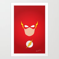 flash Art Prints featuring FLASH by Roboz