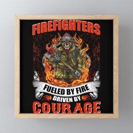 Fire Brigade Pride Germany America Framed Mini Art Print